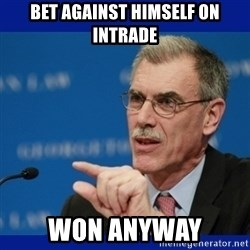 Donald Verrelli - BET AGAINST HIMSELF ON INTRADE WON ANYWAY