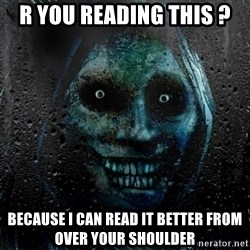 NEVER ALONE  - r you reading this ? because i can read it better from over your shoulder