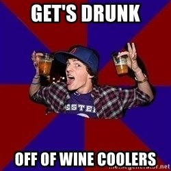 Sunny Student - get's drunk off of wine coolers