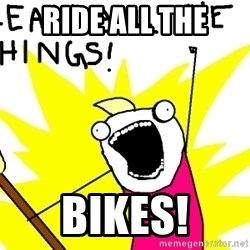 clean all the things - ride all the bikes!