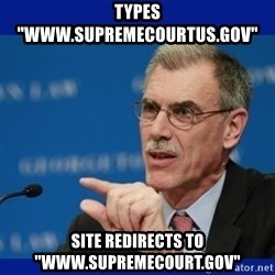 "Donald Verrelli - Types ""www.supremecourtus.gov"" site redirects to ""www.supremecourt.gov"""