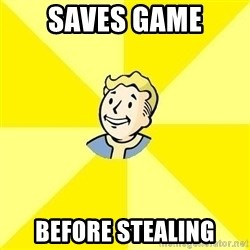 Fallout 3 - SAVES GAME BEFORE STEALING