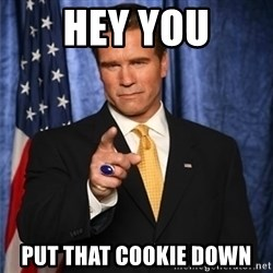 arnold schwarzenegger - HEY YOU PUT THAT COOKIE DOWN