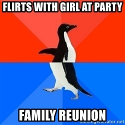 Socially Awesome Awkward Penguin - Flirts with girl at party family reunion