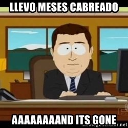 Aand Its Gone - LLEVO MESES CABREADO AAAAAAAAND ITS GONE