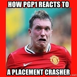 Phil Jones Scared Face - How pgp1 reacts to a placement crasher