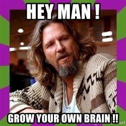Dudeism - hey man ! grow your own brain !!