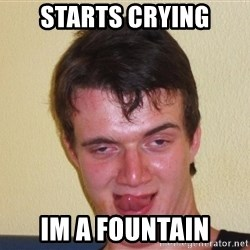 [10] guy meme - starts crying im a fountain