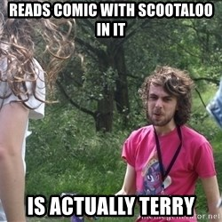 Disgruntled Brony - reads comic with scootaloo in it is actually terry