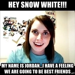 Creepy Girl Face - hey snow white!!! my name is jordan...i have a feeling we are going to be best friends