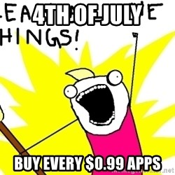 clean all the things - 4th of july buy every $0.99 apps