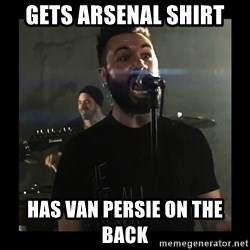 Sudden Realization Spencer Sotelo - Gets Arsenal shirt has van persie on the back