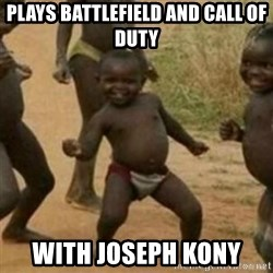 Black Kid - plays battlefield and call of duty with Joseph kony