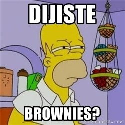 Simpsons' Homer - dijiste brownies?