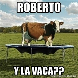 Unimpressionable Cow - Roberto  y la vaca??