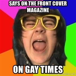 TG Apple Sauce - says on the front cover magazine on gay times