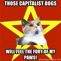 Lenin Cat - those capitalist dogs will feel the fury of my paws!