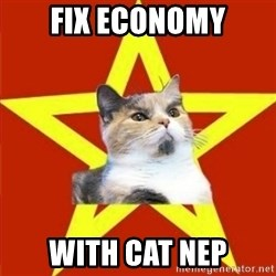 Lenin Cat - fix economy with cat nep