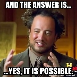 Giorgio A Tsoukalos Hair - And the answer is... ...Yes, it IS Possible.