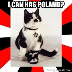 Hitler Cat - i can has poland?