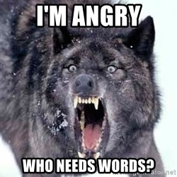 Angry Ass Wolf - i'm angry who needs words?