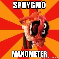 Animal Muppet - SPHYGMO Manometer