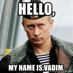 Russian Awesome Face - Hello, My name is vadim.