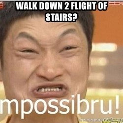 Impossibru Guy - Walk down 2 flight of stairs?