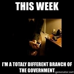 LAPTOP GANGSTER - this week i'm a totaly different branch of the government