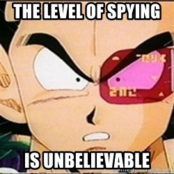 Vegeta's whore detector - the level of spying  is unbelievable