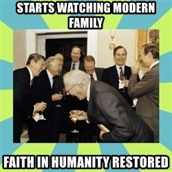 reagan white house laughing - starts watching modern family faith in humanity restored
