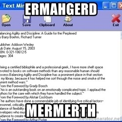 Text - ERMAHGERD MERMERTH