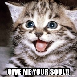 HAPPY KITTEN - GIVE ME YOUR SOUL!!