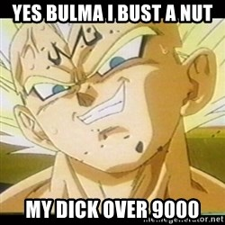 Vegeta-New - YES BULMA I BUST A NUT MY DICK OVER 9000