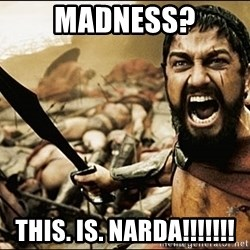 This Is Sparta Meme - Madness? this. is. narda!!!!!!!