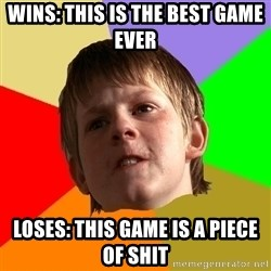 Angry School Boy - WINS: THIS IS THE BEST GAME EVER loses: this game is a piece of shit