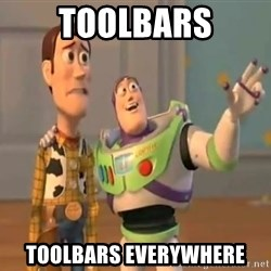 X, X Everywhere  - toolbars toolbars everywhere