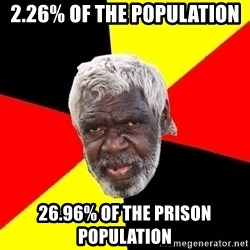 Abo - 2.26% of the population 26.96% of the prison population