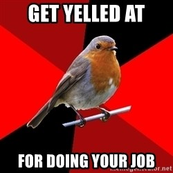 Retail Robin - Get yelled at for doing your job