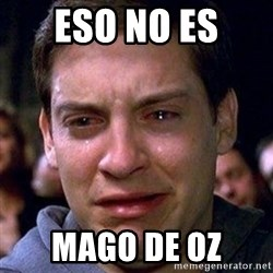 spiderman cry - eso no es  mago de oz