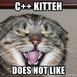 Angry Cat - C++ kitteh does not like