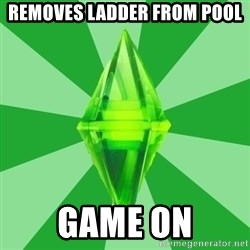 Sims 3 - Removes ladder from pool game on