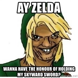 Link Pedreiro - AY ZELDA WANNA HAVE THE HONOUR OF HOLDING MY SKYWARD SWORD?