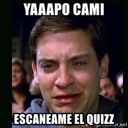 crying peter parker - yaaapo cami escaneame el quizz