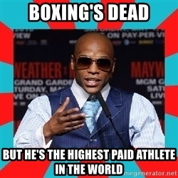 Floyd mayweather - Boxing's dead But he's the highest paid athlete in the world