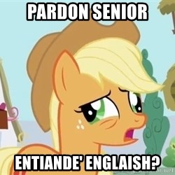 My Little Pony - Pardon senior entiande' englaish?