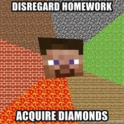 Minecraft Guy - Disregard homework acquire diamonds