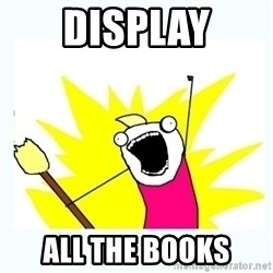 All the things - display all the books