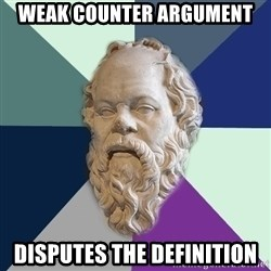philosopher - Weak counter argument disputes the definition