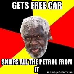 Abo - gets free car sniffs all the petrol from it